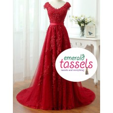 Lace Net Gown