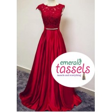 Elegant Red Gown