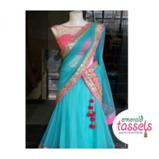 Net Half Saree Design