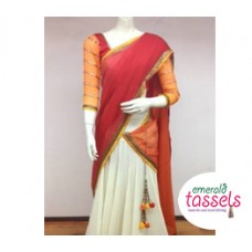 Pleated Half Saree