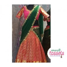 Traditional Bridal Half Saree